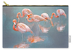 Flamingo Blues Carry-all Pouch by Brian Tarr