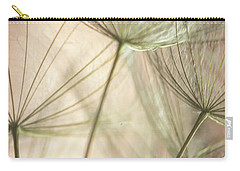 Flamingo Dandelions Carry-all Pouch by Iris Greenwell
