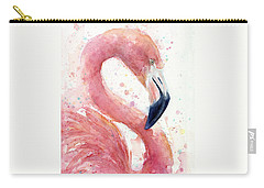 Flamingo - Facing Right Carry-all Pouch by Olga Shvartsur