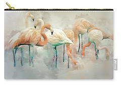 Flamingo Fantasy Carry-all Pouch by Brian Tarr