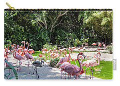 Flamingo Flock Carry-all Pouch