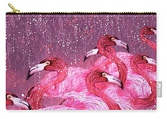 Flamingo Frenzy Carry-all Pouch by Barbara Chichester