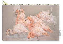Flamingo Fun Carry-all Pouch by Brian Tarr