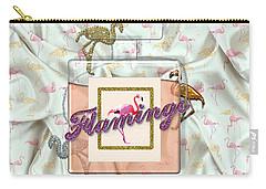 Flamingo Carry-all Pouch by La Reve Design