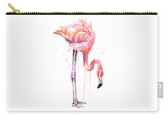 Flamingo Painting Watercolor Carry-all Pouch
