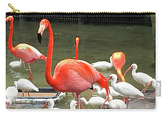 Flamingo Party Carry-all Pouch by Beth Saffer