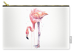 Flamingo Watercolor - Facing Left Carry-all Pouch