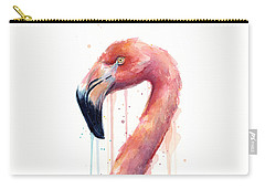 Flamingo Watercolor Illustration Carry-all Pouch