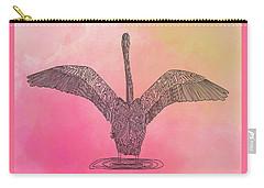 Flamingo2 Carry-all Pouch by Megan Dirsa-DuBois