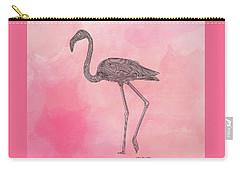 Flamingo3 Carry-all Pouch by Megan Dirsa-DuBois