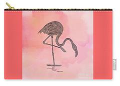 Flamingo4 Carry-all Pouch by Megan Dirsa-DuBois