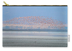 Flamingos And Golden Jackal In Tanzania Carry-all Pouch