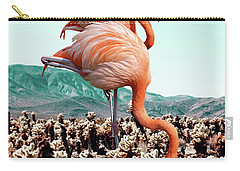 Flamingos In The Desert Carry-all Pouch