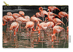 Flamingo Looking For Food Carry-all Pouch