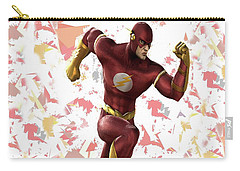 Carry-all Pouch featuring the mixed media Flash Splash Super Hero Series by Movie Poster Prints