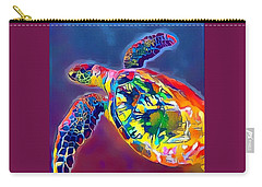 Flash The Turtle Carry-all Pouch by Erika Swartzkopf
