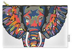 Flashy Elephant Carry-all Pouch by Kathleen Sartoris