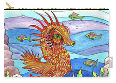 Flashy Swimmer And Fishes Carry-all Pouch