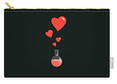 Flask Of Hearts Carry-all Pouch