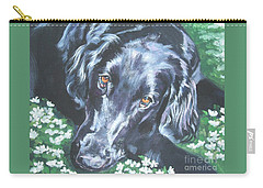 Flat Coated Retriever Carry-all Pouch by Lee Ann Shepard