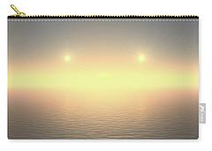Carry-all Pouch featuring the digital art Flat Lights by Robert Thalmeier
