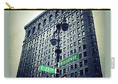 Carry-all Pouch featuring the photograph Flatiron Directions by Jessica Jenney