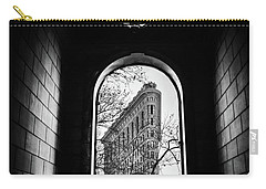 Carry-all Pouch featuring the photograph Flatiron Perspective by Jessica Jenney