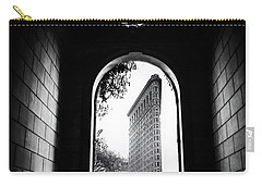 Carry-all Pouch featuring the photograph Flatiron Point Of View by Jessica Jenney