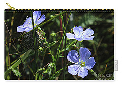 Carry-all Pouch featuring the photograph Flax by Ann E Robson