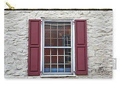 Carry-all Pouch featuring the photograph Flemington, Nj - Side Shop Window by Frank Romeo