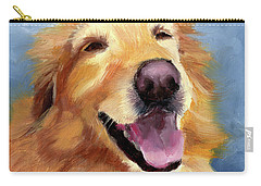 Fletcher Laughing Carry-all Pouch by Alice Leggett