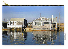 Carry-all Pouch featuring the photograph Fletchers Camp And The Little House Sandy Neck by Charles Harden