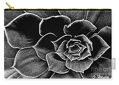 Fleur Blanc Succulent Carry-all Pouch