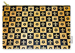 Fleur De Lis Floor Carry-all Pouch
