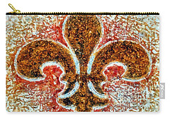 Fleur De Lis Gold Dust Carry-all Pouch