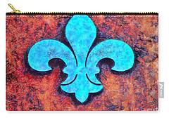 Fleur De Lis Rustic Carry-all Pouch