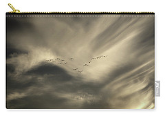 Carry-all Pouch featuring the photograph Flight 016 Westbound by Robert Geary