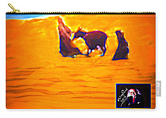 Carry-all Pouch featuring the digital art Flight Into Egypt by Richard W Linford