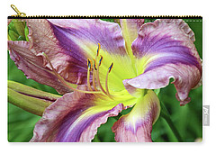 Carry-all Pouch featuring the digital art Flight Of Orchids Daylily by Eva Kaufman