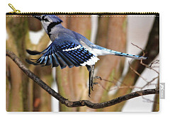 Flight Of The Blue Jay Carry-all Pouch