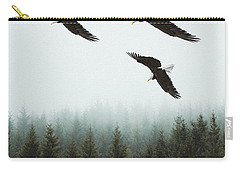 Carry-all Pouch featuring the photograph Flight Of The Eagles by Ericamaxine Price