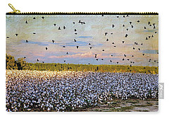 Carry-all Pouch featuring the photograph Flight Over The Cotton by Jan Amiss Photography