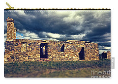 Carry-all Pouch featuring the photograph Flinders Ranges Ruins V2 by Douglas Barnard