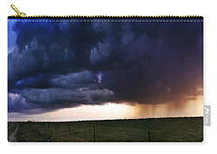 Flint Hills Storm Panorama  Carry-all Pouch