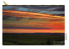 Carry-all Pouch featuring the photograph Flint Hills Sunrise by Thomas Bomstad