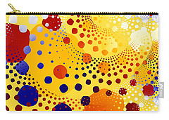 Carry-all Pouch featuring the digital art Flint Stones by Fran Riley