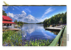 Carry-all Pouch featuring the photograph Floating Bridge At Covewood by David Patterson