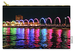 Carry-all Pouch featuring the photograph Floating Bridge, Willemstad, Curacao by Kurt Van Wagner