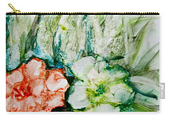 Floating Flowers 3 Carry-all Pouch by Laurie Morgan
