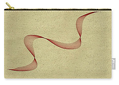 Floating Maroon Abstract Carry-all Pouch